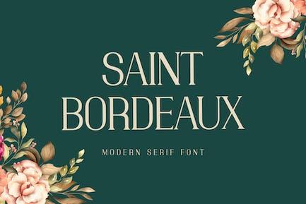Fuente de visualización de San Bordeaux Con serifa