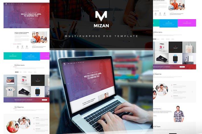 Thumbnail for MIZAN - Creative & Multipurpose PSD