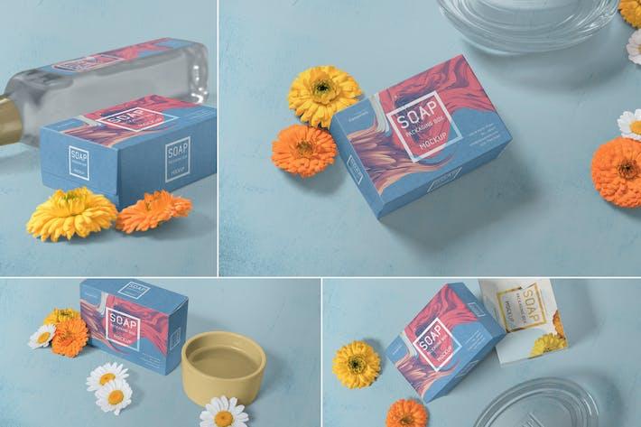 Seifenverpackungen Mock-ups