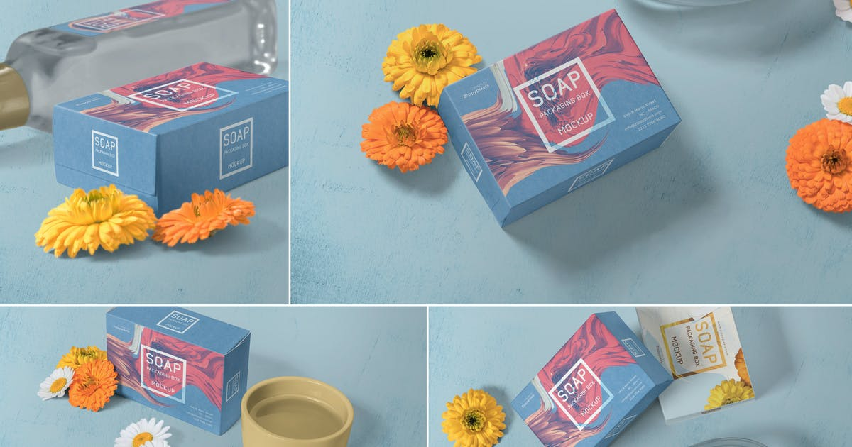Download Soap Packaging Mockups by zippypixels