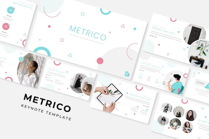 Thumbnail for Metrico - Keynote Template