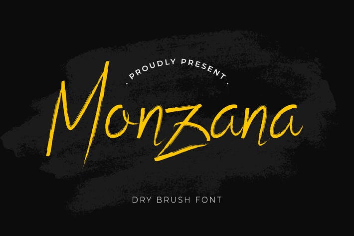 Cover Image For Monzana Brush Handwritten