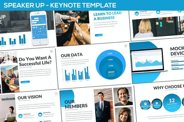 Thumbnail for Speaker Up - Keynote Template