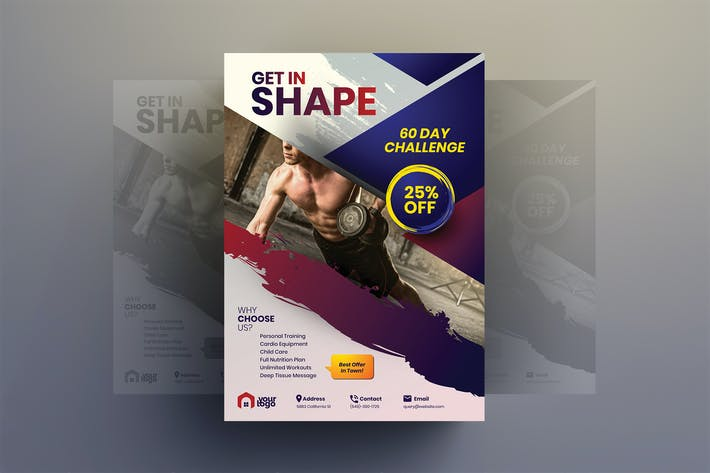 Thumbnail for Get In Shape - Gym Flyer