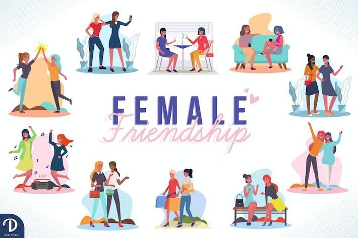 Weibliche Freundschaft