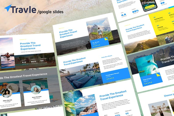 Thumbnail for TRAVLE - Google Slides Template