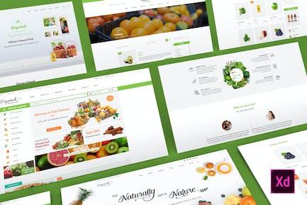 Organisk - Multi-Purpose Organic Adobe XD Template