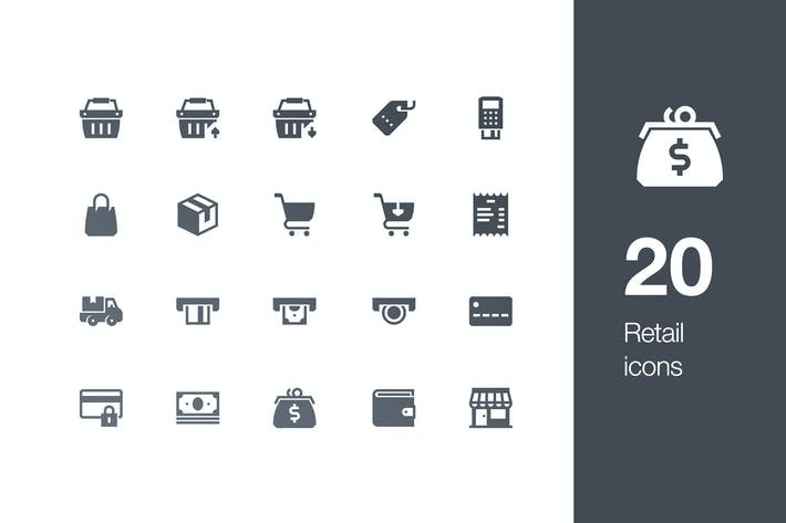 Thumbnail for 20 Retail icons