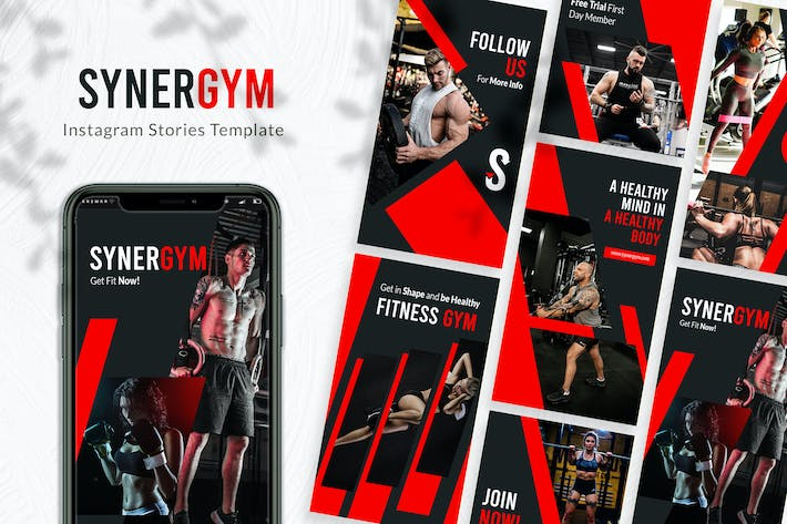 Thumbnail for Synergym Instagram Story Template