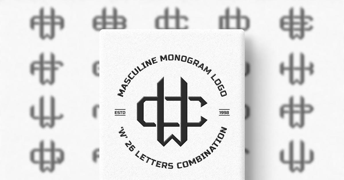 Download W (A-Z) Monogram Logo Creator Pack Vol.4 by Farhan_Haikal