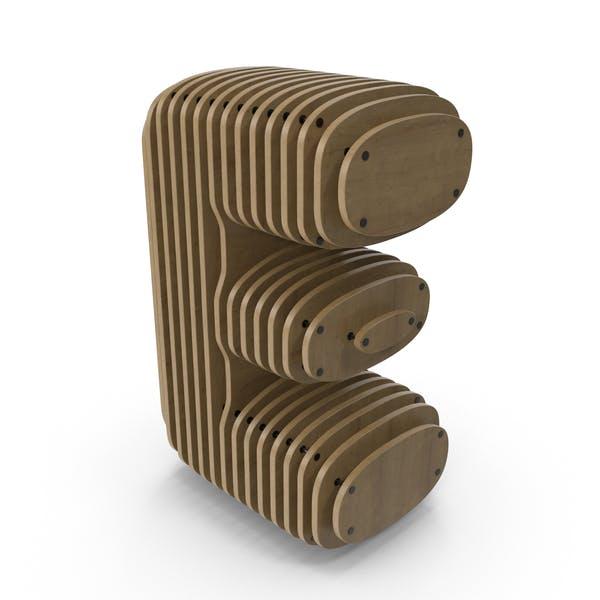 Thumbnail for Wood Letter E