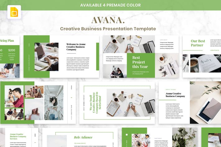 Thumbnail for AVANA Creative Business Presentation Google Slide