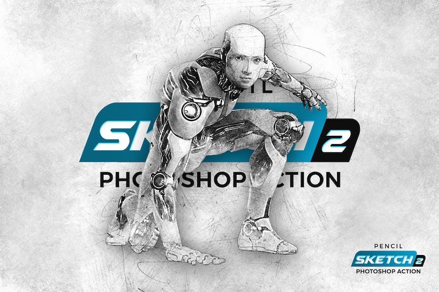 Pencil Sketch 2 Photoshop Action