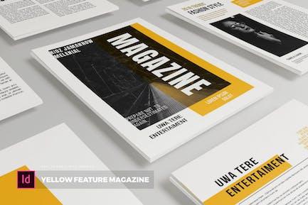 Yellow Future   Magazine Template
