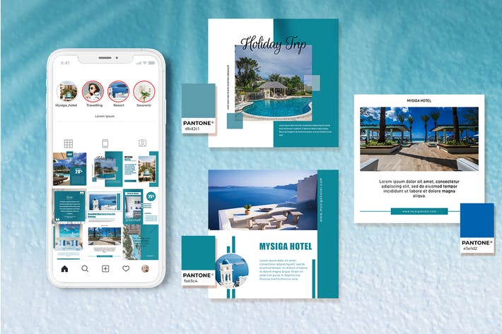 Thumbnail for Hotel Resort and Tourism Instagram Feeds