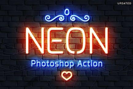 Neon Tube Photoshop Action