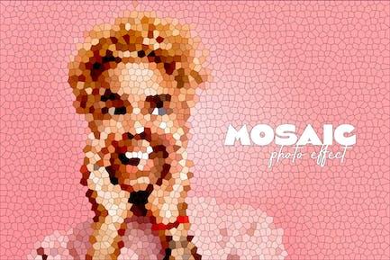 Efecto fotográfico de mosaico