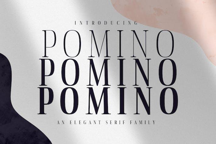 Thumbnail for Pomino - Modern Serif Font Family
