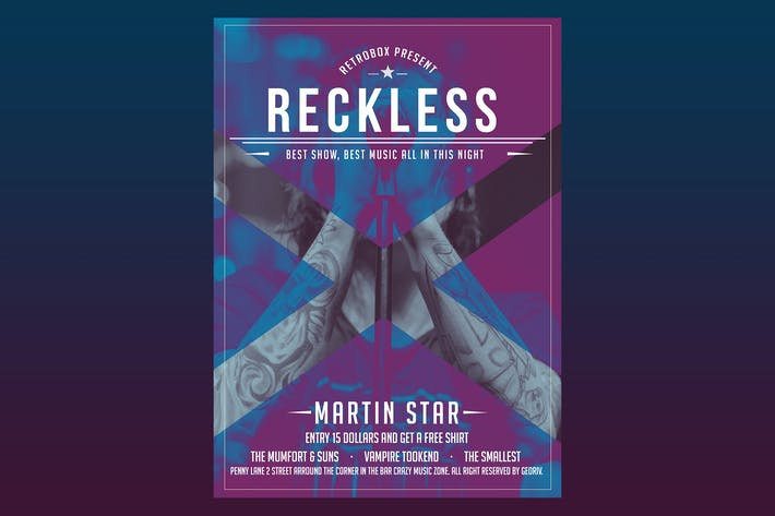 Thumbnail for Reckless Flyer Poster