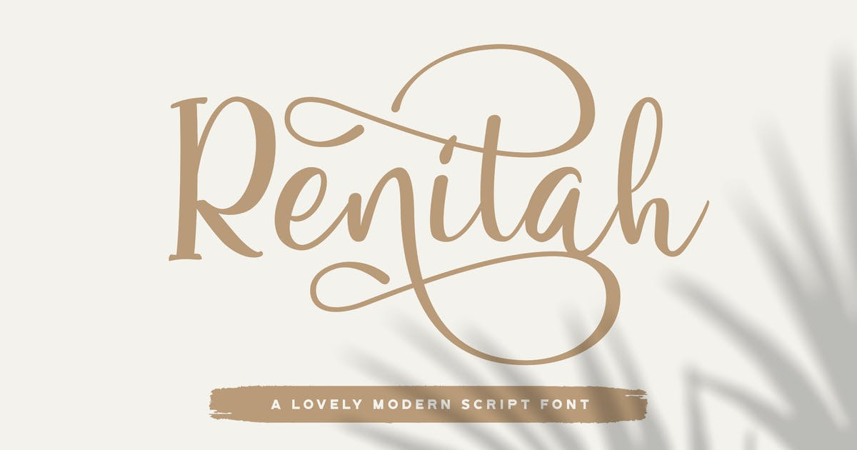 Download Renitah - Lovely Script Font by StringLabs