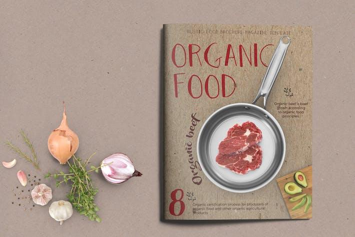 Thumbnail for Organic Food Brochure / Magazine