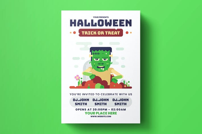 Thumbnail for Halloween Zombie Flyer Template