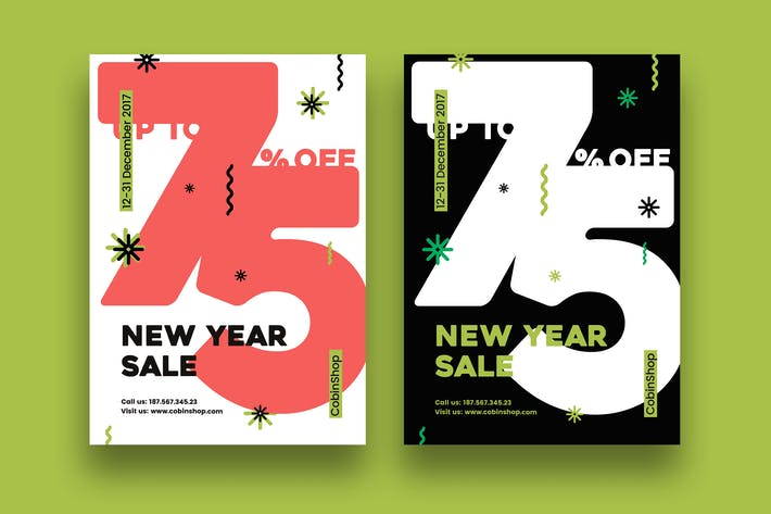 Thumbnail for New Year Sale Flyer/Poster