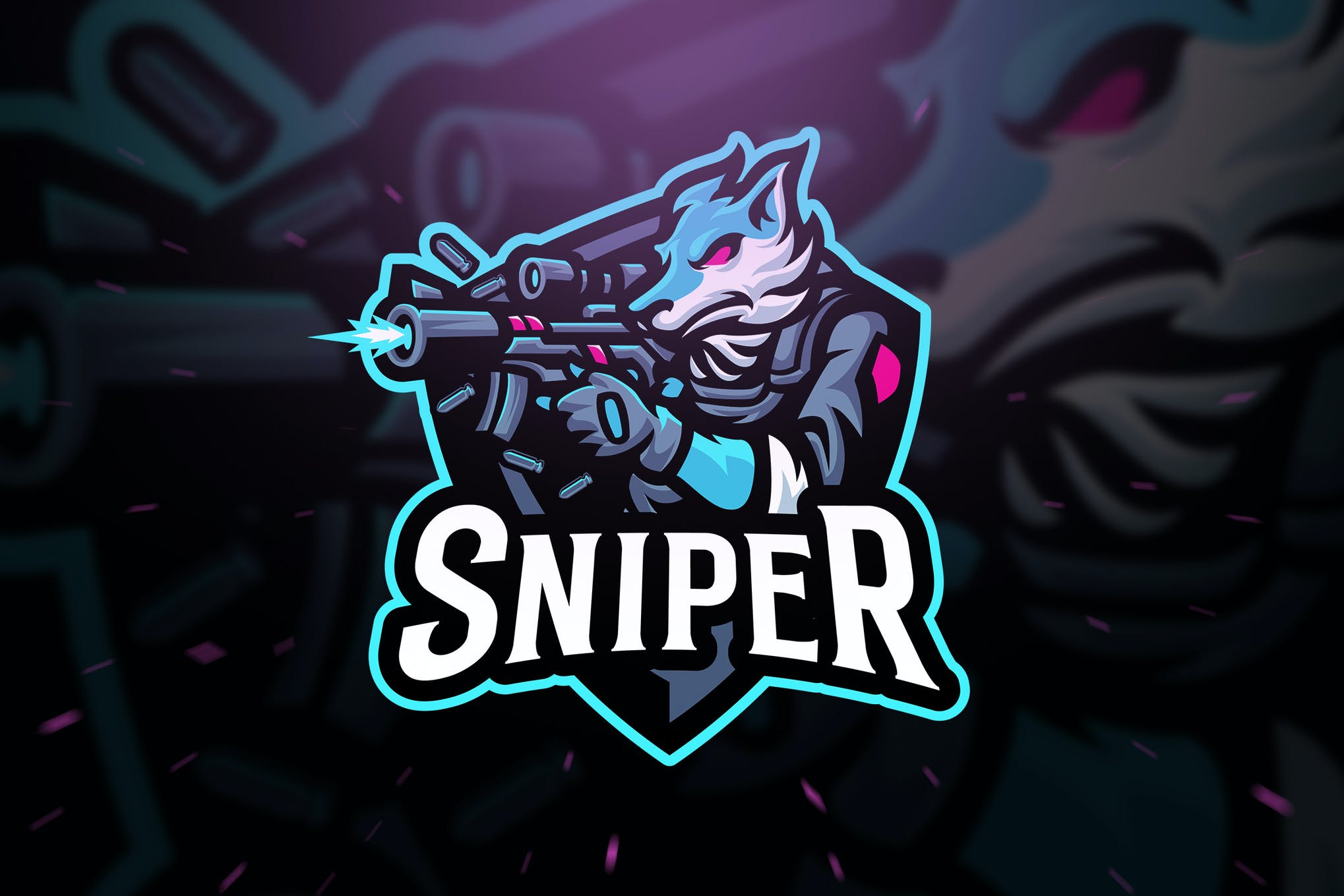 Wolf Sniper Sport And Esport Logo Template By Blankids On
