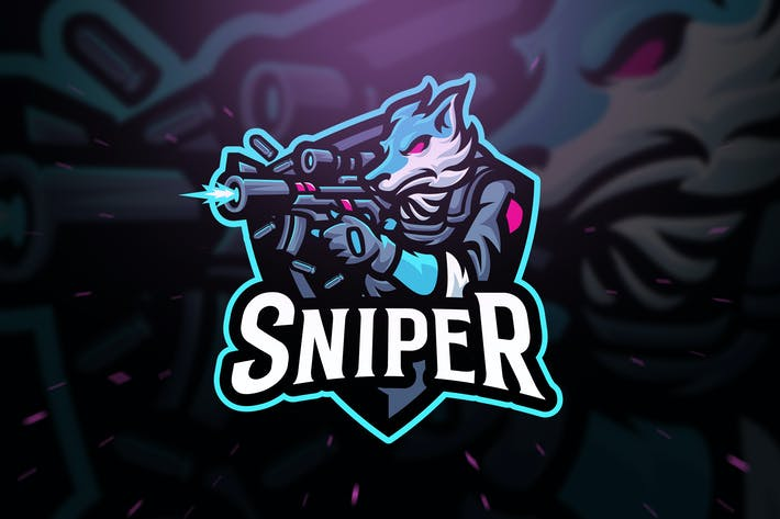 Thumbnail for Wolf Sniper Sport and Esport Logo Template
