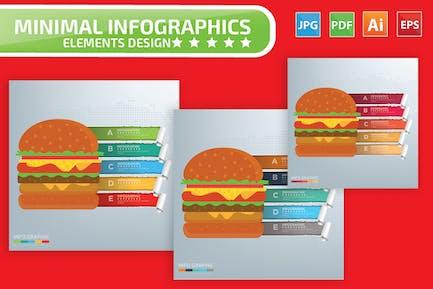 Hamburger Infographics Design