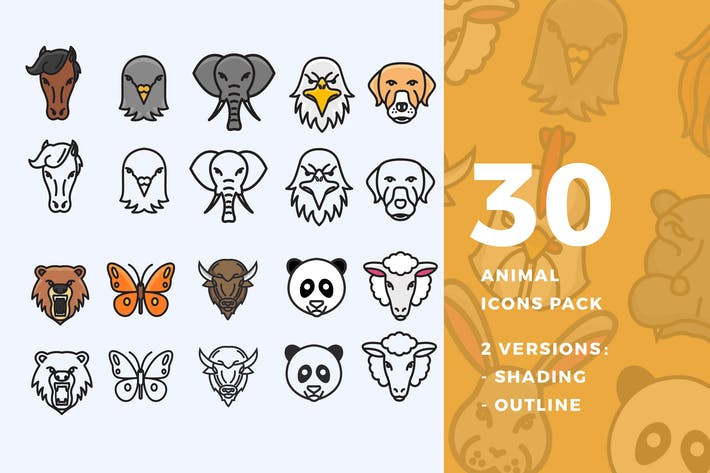 Thumbnail for 30 Animal Icon Pack