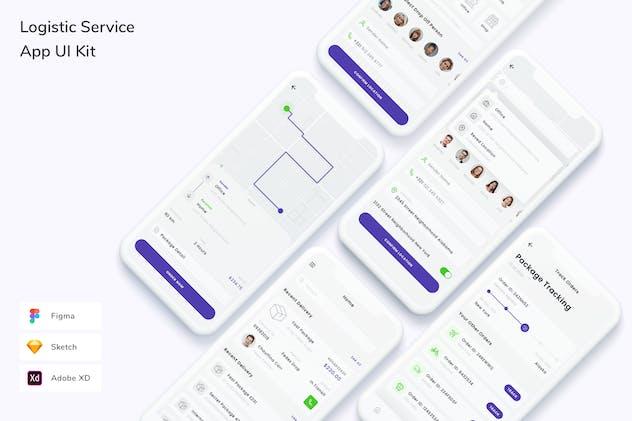 Logistic Service App UI Kit