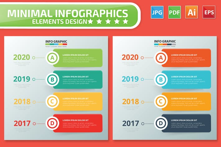 Thumbnail for Timeline Infographics design