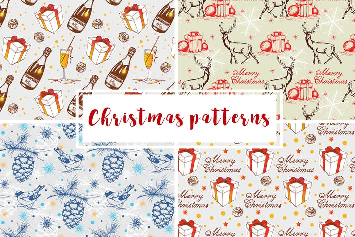 Thumbnail for Christmas Seamless Patterns