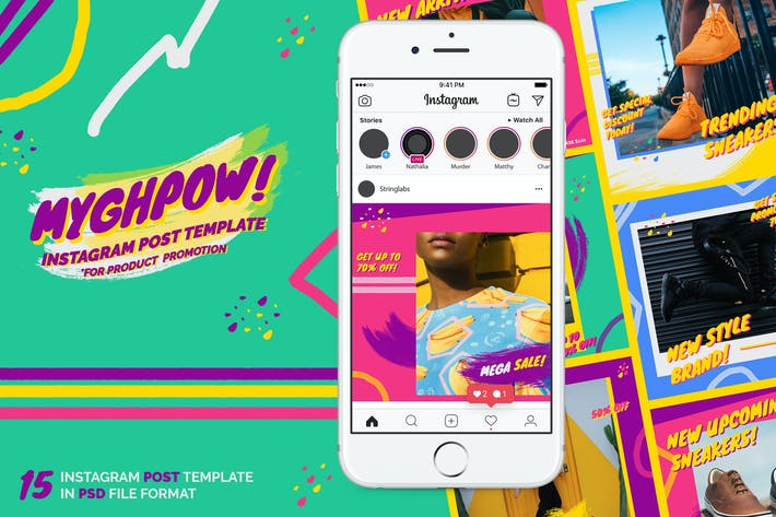 Thumbnail for MYGHPOW - Instagram Post Template