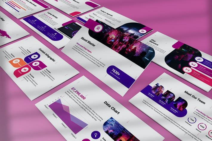 Thumbnail for Blaster - Abstract Powerpoint Template