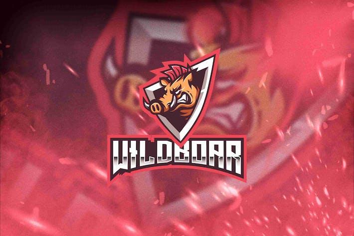 Thumbnail for Wild Boar Esport Logo Template