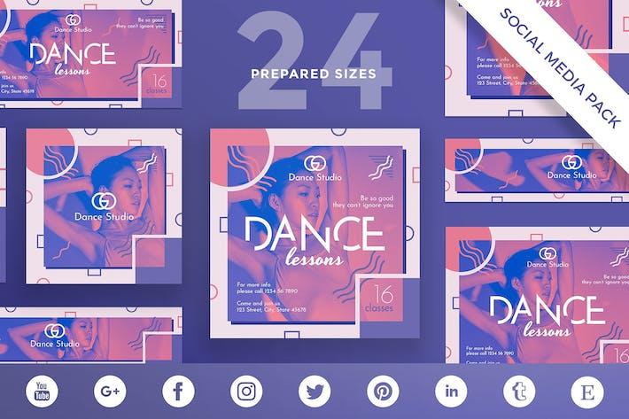 Dance Lessons Social Media Pack Template