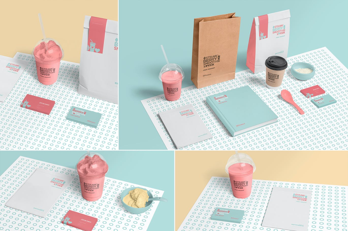 Transparent Plastic Ice Cream Cup Mockups By Zippypixels On