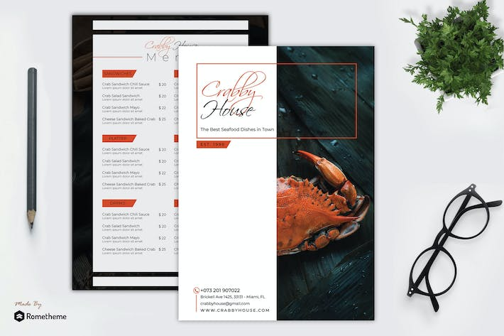 Thumbnail for Crabby - Seafood Menu Template