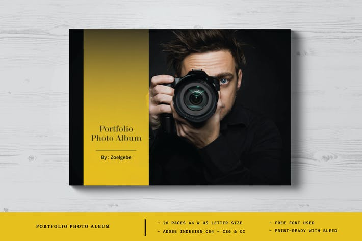 Portfolio Photo Album Template