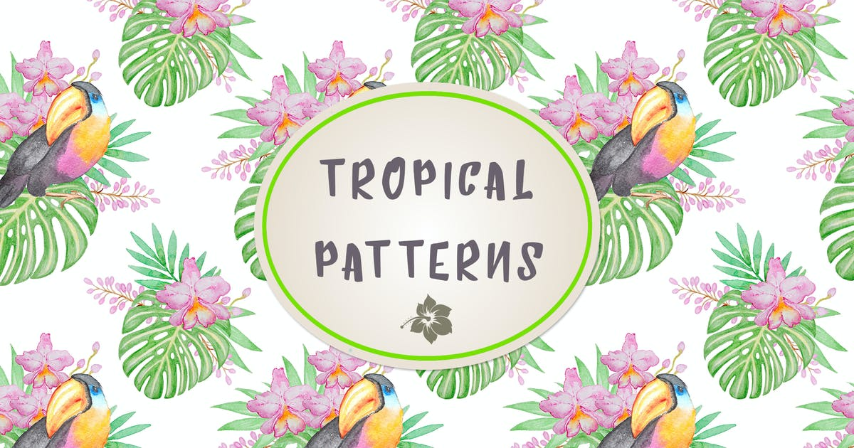 Download Set of Tropical Patterns by Artness