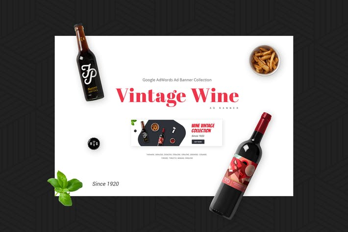 Thumbnail for Vintage Wine | Ad Banner Template