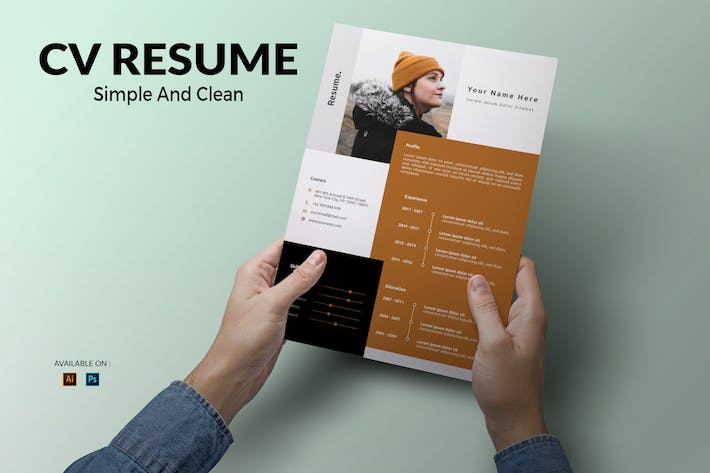 Thumbnail for CV Resume Clean And Simple