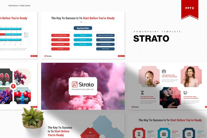 Thumbnail for Strato | Powerpoint Template