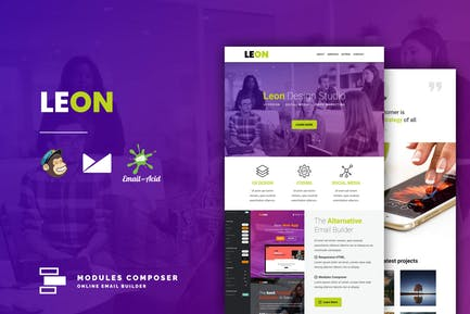 Leon - Responsive Email Template for Startups