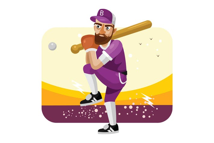 Thumbnail for Baseball Player Vector Illustration