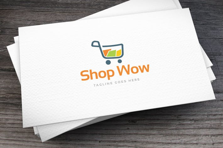 Thumbnail for Shop Wow Logo Template