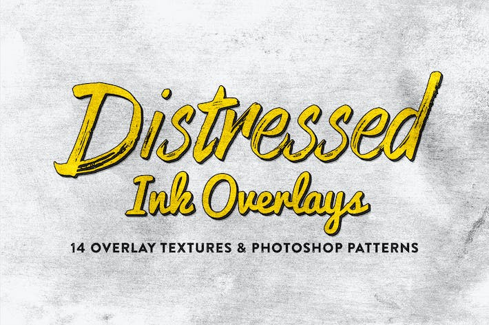 Thumbnail for 14 Distressed Ink Overlays