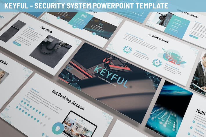 Thumbnail for Keyful - Security System Powerpoint Template